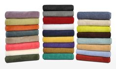 Rated best towels by Real Simple magazine, these super soft 100% cotton towels come in 25 colors and boast superior absorbency. Shop online now!
