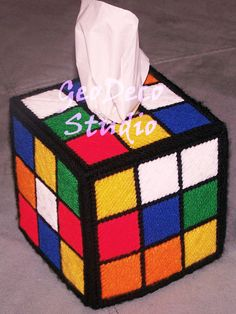 RUBIK'S CUBE Tissue Box Cover  Big Bang Theory TV by GeoDecoStudio, $29.99