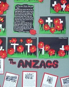 leading and learning: Time for a mini research unit on ANZAC Day Australia Crafts, Australia Day, Classroom Displays, Art Classroom, Classroom Ideas, Remembrance Day Art, Ww1 Art, Art For Kids, Crafts For Kids