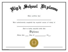 High School Diploma On Resume Blankdiploma.gif 757×566 Pixels  2010 Diplomas  Pinterest  High .