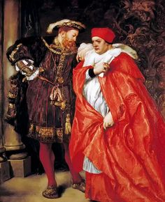 'Me and My King' Henry VIII and Cardinal Wolsey by Sir John Gilbert c. 1886
