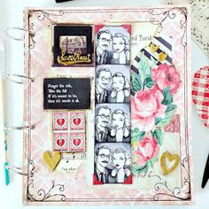 """Everyday is a Holiday: """"Sweethearts"""" Art Journal page (Inspired by Boardwalk Empire)"""