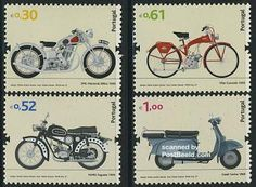 Motorcycles 4v (SMC,Famel,Vilar,Casal)   2007 Stamp Collecting, Postage Stamps, Fun Facts, Transportation, Amitabh Bachchan, Bollywood Celebrities, Motorbikes, Portugal, Motorcycles