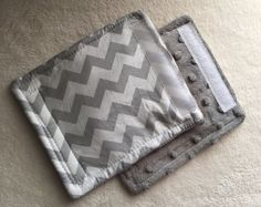 Grey White Chevron Car Seat Strap Covers by peaceloveandbabyshop