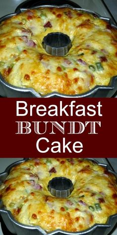 Have you ever thought of making a breakfast cake?  No, not the coffee cake type, but a savory breakfast bundt cake.  You are going to love this breakfast casserole. Full of flavor, filling and delicious, this is a must-try savory breakfast cake. Breakfast Bundt Cake, Breakfast Desayunos, Best Breakfast Recipes, Breakfast Items, How To Make Breakfast, Breakfast Dishes, Brunch Recipes, Dinner Recipes, School Breakfast