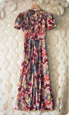 Chrysanthemum flowers symbolize optimism and joy.   60s floral dress @ https://www.etsy.com/shop/TheBlueSkyBoutique