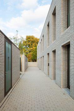 Terraced House, Rotterdam, Cities, Open Stairs, Brick Construction, Brick Facade, Social Housing, Glass Facades, Brickwork