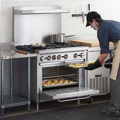"36"" NATURAL GAS Commercial Kitchen 6 Burner Range with Standard Oven · $1,585.00 Best Appliances, Kitchen Appliances, 36 Gas Range, Desserts Menu, Restaurant Equipment, Electric Oven, Gas Stove, Commercial Kitchen, Cooking"
