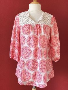 CALYPSO ST BARTH For Target Pink Medallion Print Silk Tunic Top Size S #CalypsoStBarth #Tunic #Casual