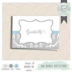 Buffet Labels for candy buffets or dessert table. Printable
