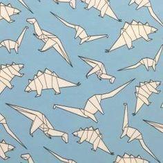 Origami Dinos auf hellblau, Jersey, 13,90 EUR / Meter - Bild vergrößern Origami Dino, Ikea, Dinosaurs, Light Blue, Fabrics, Pictures, Ikea Ikea