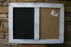 vintage frame chalk and cork board.