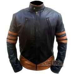 Xmen Wolverine Black Leather Jscket by jacketswardrobe on Etsy