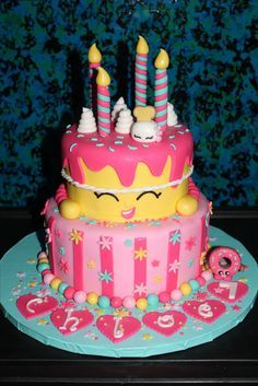 Image result for shopkin cakes