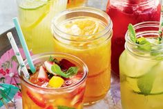 This tropical mocktail is given an extra flavour hit by adding lemon sorbet and mango nectar.