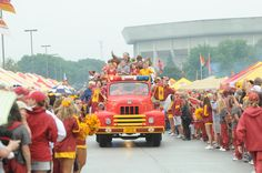 Spirit Walk on tent row.  Feels like yesterday......:) love this tradition!! :) #CountdowntoKickoff #CycloneFB