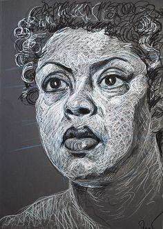Fred hatt - andrea my portrait drawings in 2019 рисунок, художники, пастель Ap Drawing, Figure Drawing, Painting & Drawing, Abstract Portrait, Portrait Art, Advanced Higher Art, Pastel Portraits, High Art, Pastel Art