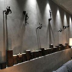 Retro industrial climbing character muscle man stone wall decoration hanging pendant sculpture statue bar shop background Statues & Sculptures from Home & Garden on AliExpress Metal Walls, Metal Wall Art, Wall Décor, Wall Design, House Design, Creative Wall Decor, Creative Walls, Industrial Style, Industrial Lighting