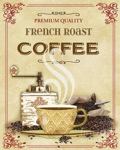 French Roast Coffee-jp2251 Print by Jean Plout