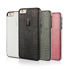 """3D Crocodile Head Pattern Leather Back Cover Case For iPhone 6 Plus / 6S Plus 5.5""""inch Luxury Soft Crocodile Skin Back Cover"""