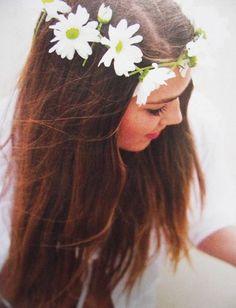 bridal boho daisy chain