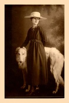 Lady Caro, Courtesan of HELL - albertocabornero: Anita Loos with her borzoi.