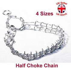 Metal chrome half #choke prong pinch chain #collars stops #pulling dog training,  View more on the LINK: 	http://www.zeppy.io/product/gb/2/262381995730/
