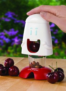 Cherry Chomper - pops the pit right out. OH MY WE NEED THIS!