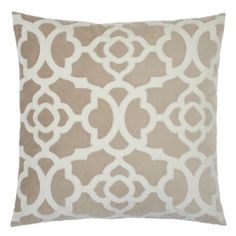 "My new pillows for the living room--Benito Pillow 24"" - Ice/Taupe from Z Gallerie"