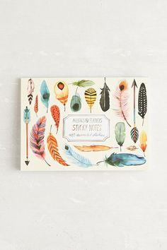 Arrows & Feathers Sticky Note Set - Urban Outfitters