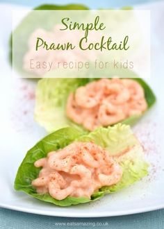 Easy Prawn Cocktail Recipe with free child friendly printable recipe sheet - easy recipe for kids from Eats Amazing UK