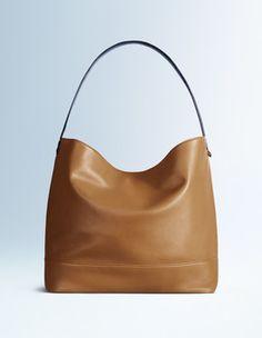 Tan/Navy Fearne Slouchy Bag Boden