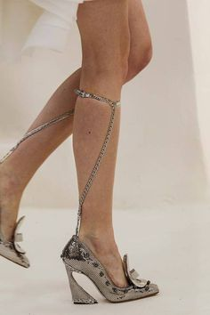 Mixing the old with the new. Classic style shoe with a modern twist. Christian Dior S/S 2014 Haute Couture