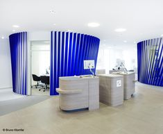 Since the multi-award-winning, modular #branch concept for Deutsche Bank AG also came off as a #winner of an international #competition, it is implemented in numerous DB branches throughout #Europe as well as in #India – Europe-wide and India, 2011-ongoing – Photograph by Bruno Klomfar
