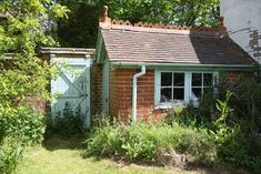 Would like to know about cedar shed plans? Then here is without doubt the right place! Brick Shed, Cedar Shed, Brick Garden, 8x12 Shed Plans, Diy Shed Plans, Outdoor Buildings, Garden Buildings, Farmhouse Sheds, Wooden Storage Sheds