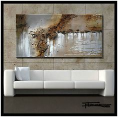 Modern Canvas Wall Art, Abstract Painting, Ready to Hang, Limited Edition Framed Wall Art, Canvas Wall Art, Abstract Canvas, Painting Canvas, Aluminum Foil Art, Hanging Paintings, Grey Art, Black And White Painting, Contemporary Wall Art
