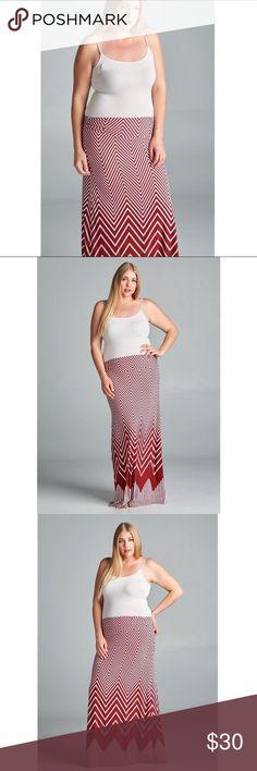 Beautiful patterned maxi skirt. 95% polyester 5% spandex. No trades. Skirts Maxi