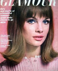 Jean Shrimpton was pretty in pink in the May 1964 Glamour magazine: Photographer: David Bailey