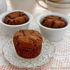 Muffin alla panna cacao e cioccolato,sfiziosi dolcetti perfetti per ogni momento della giornata.Invitanti a colazione o a merenda piacciono ai bimbi.