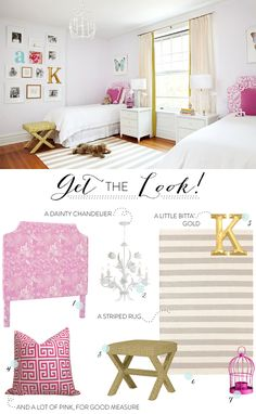 Loving this pink inspired little girls room with a buying guide to boot.     Interior Design By / http://amiecorley.com/,Photography By / http://agieseking.com/