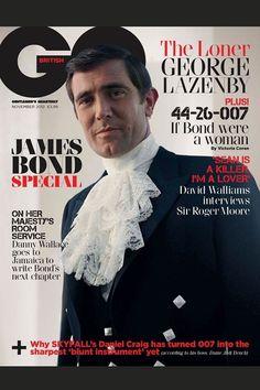 James Bonds Cover British GQ retro cover celebrating 50 years of Bond