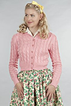 emmydesign - the campfire cardigan. Candy pink