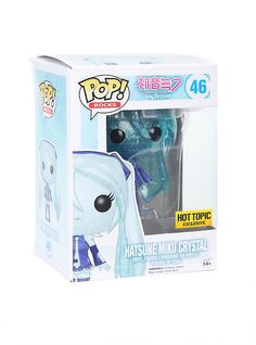 Funko Hatsune Miku Pop! Rocks Hatsune Miku Crystal Vinyl Figure Hot Topic Exclusive,