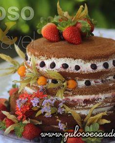 Naked Cake de Chocolate Sem Glúten e Lactose
