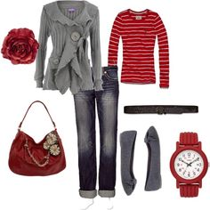 I don't even like red, yet I think this is to die for. It's probably the sweater.
