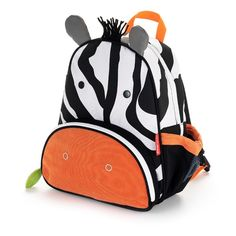 Skip Hop Zoo Pack Childrens Backpack - Zebra with insulated pouch for snacks and easy to clean lining. £20.75
