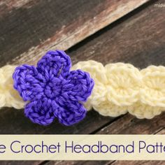 Free Crochet Headband Pattern with baby measurements