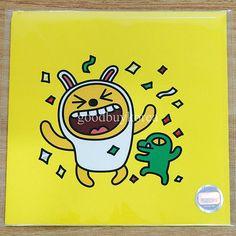 Kakao Friends - Card (Muzi & Con, Happy) Kakao Talk Emoticon Character