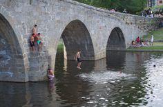 Chapuzón desde el puente