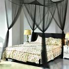 Lace 4 Corners Bed Canopy Mosquito Net Twin-XL Full Queen Cal King All Sizes | eBay